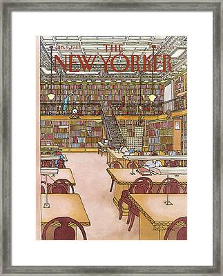 New Yorker January 9th, 1984 Framed Print by Roxie Munro