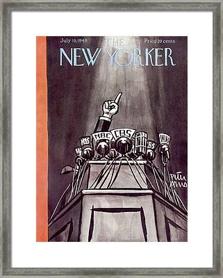 New Yorker July 10th, 1948 Framed Print by Peter Arno
