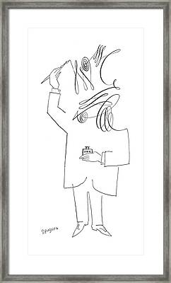 New Yorker July 10th, 1954 Framed Print by Saul Steinberg