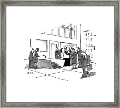 New Yorker July 11th, 1994 Framed Print by Jack Ziegler