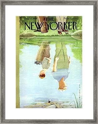 New Yorker July 12th, 1958 Framed Print by Rea Irvin
