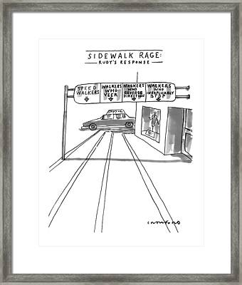 New Yorker July 12th, 1999 Framed Print by Michael Crawford
