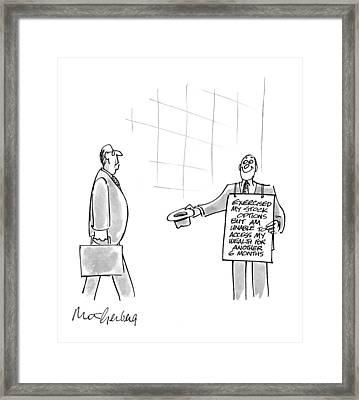New Yorker July 12th, 1999 Framed Print by Mort Gerberg