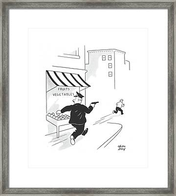 New Yorker July 13th, 1940 Framed Print by Chon Day