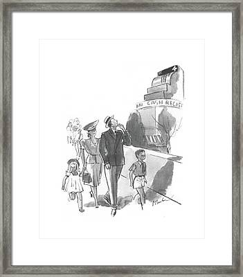 New Yorker July 13th, 1940 Framed Print by Perry Barlow