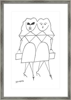 New Yorker July 13th, 1957 Framed Print by Saul Steinberg