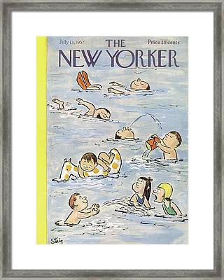 New Yorker July 13th, 1957 Framed Print