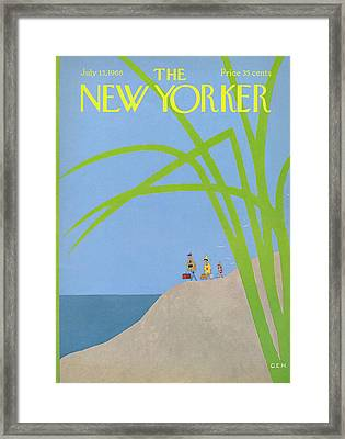 New Yorker July 13th, 1968 Framed Print by Charles E. Martin