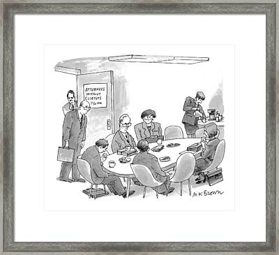 New Yorker July 13th, 1998 Framed Print by M.K. Brow