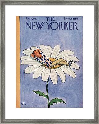 New Yorker July 14th, 1962 Framed Print by William Steig