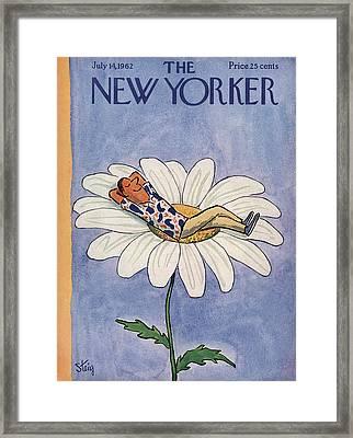New Yorker July 14th, 1962 Framed Print