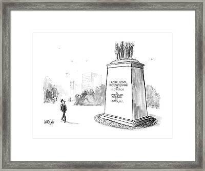 New Yorker July 14th, 1986 Framed Print by Warren Miller