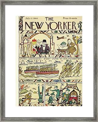 New Yorker July 15th, 1944 Framed Print by Rea Irvin