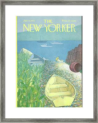 New Yorker July 15th, 1972 Framed Print by Charles E. Martin