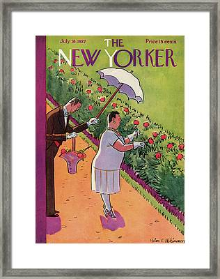 New Yorker July 16th, 1927 Framed Print by Helen E. Hokinson