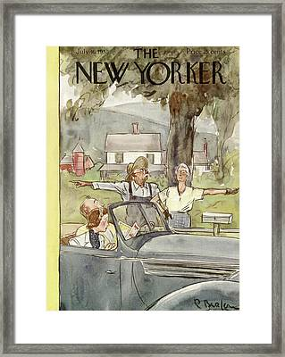 New Yorker July 16th, 1938 Framed Print by Perry Barlow