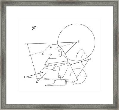 New Yorker July 16th, 1960 Framed Print by Saul Steinberg