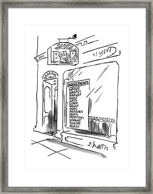 New Yorker July 16th, 1990 Framed Print by Sidney Harris