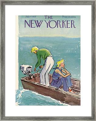 New Yorker July 17th, 1937 Framed Print by Alice Harvey