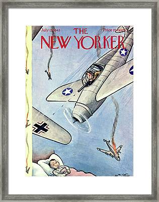 New Yorker July 17th, 1943 Framed Print by William Steig
