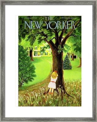 New Yorker July 17th, 1948 Framed Print by Edna Eicke