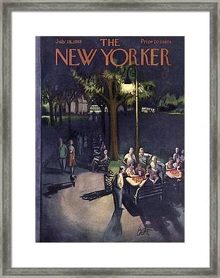 New Yorker July 18th, 1953 Framed Print by Arthur Getz