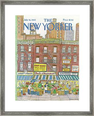 New Yorker July 18th, 1983 Framed Print by Barbara Westman