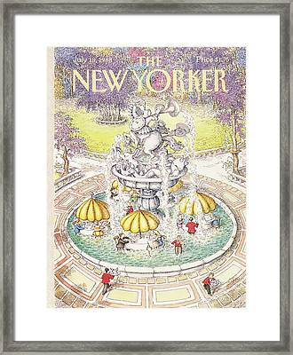 New Yorker July 18th, 1988 Framed Print by John O'Brien