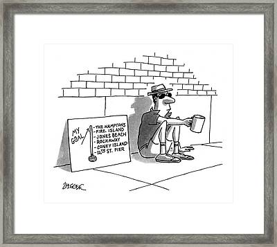 New Yorker July 19th, 1993 Framed Print by Jack Ziegler