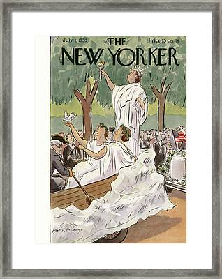 New Yorker July 1st, 1933 Framed Print by Helen E. Hokinson
