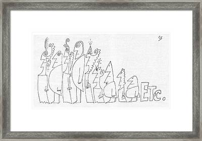 New Yorker July 1st, 1961 Framed Print by Saul Steinberg