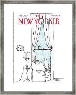 New Yorker July 1st, 1985 Framed Print