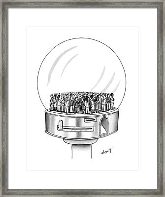 New Yorker July 1st, 1991 Framed Print by Tom Cheney