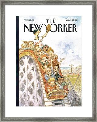 New Yorker July 1st, 2002 Framed Print by Peter de Seve
