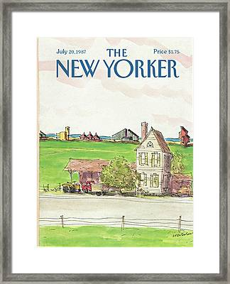 New Yorker July 20th, 1987 Framed Print