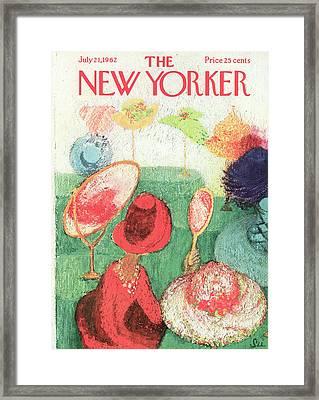 New Yorker July 21st, 1962 Framed Print by Su Zeigler