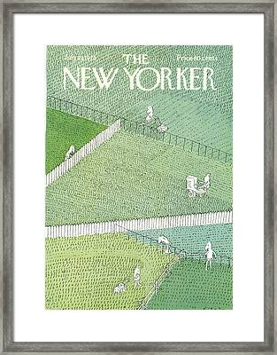 New Yorker July 21st, 1975 Framed Print by R.O. Blechman