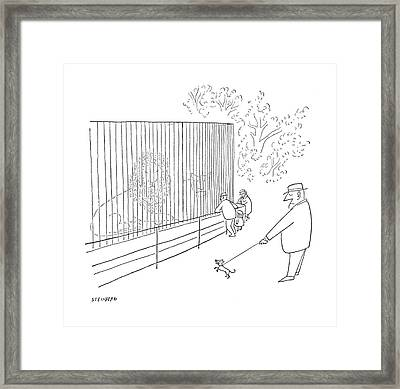 New Yorker July 22nd, 1950 Framed Print by Saul Steinberg