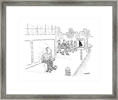 New Yorker July 22nd, 1991 Framed Print by Robert Mankoff