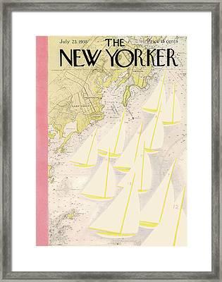 New Yorker July 23rd, 1938 Framed Print by Arthur Getz