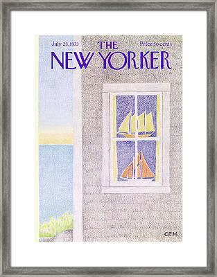 New Yorker July 23rd, 1973 Framed Print