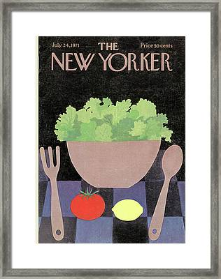 New Yorker July 24th, 1971 Framed Print by Charles E. Martin