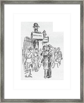 New Yorker July 25th, 1942 Framed Print