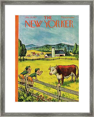 New Yorker July 25th, 1953 Framed Print
