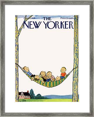 New Yorker July 26th, 1958 Framed Print