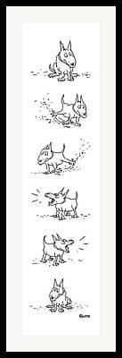 Doggies Drawings Framed Prints