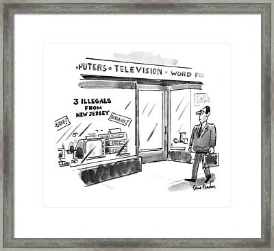 New Yorker July 26th, 1993 Framed Print by Dana Fradon