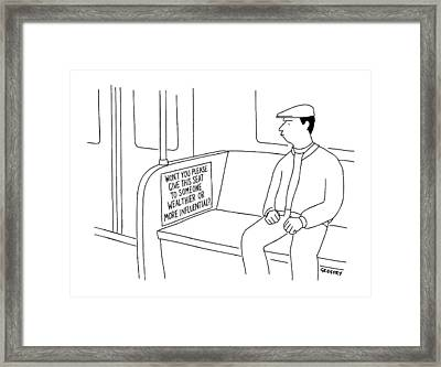 New Yorker July 26th, 1999 Framed Print by Alex Gregory