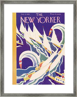 New Yorker July 27th, 1929 Framed Print by Theodore G. Haupt