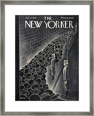 New Yorker July 27th, 1940 Framed Print by Christina Malman